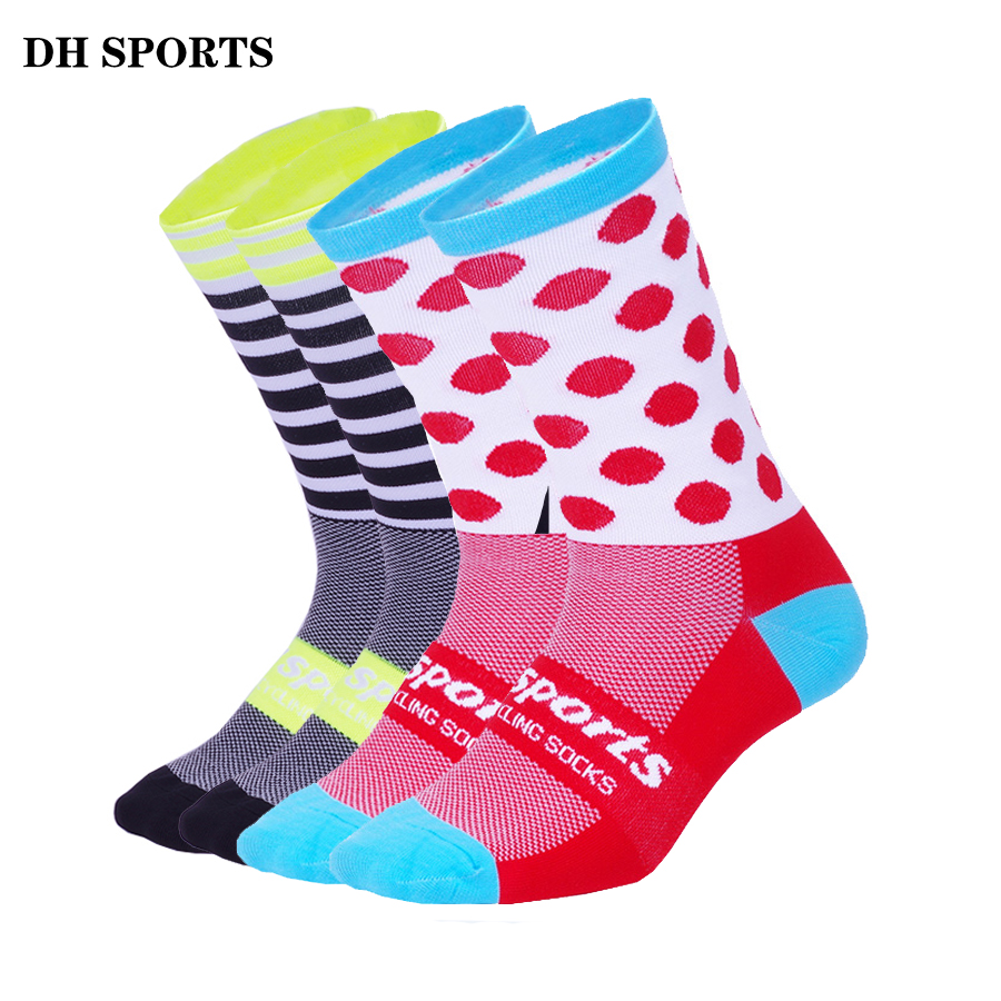 DH SPORTS New Professional Sport Cycling Socks Men Women Breathable Road Bicycle Mountain Bike Socks Running Compression Socks свитшот унисекс с полной запечаткой printio i love you beary much