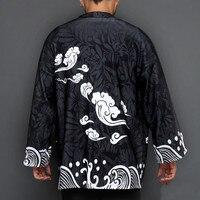 Japanese thicken kimono cardigan men haori yukata male samurai costume kimono jacket mens kimono shirt yukata haori X9150
