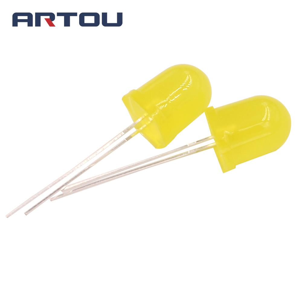 Shengyang 5 Colors X20pcs =100pcs F5 5mm Round Yellow White Red Green Blue Diffused Round Dip Diode Led Lamp Light Electronic Components & Supplies