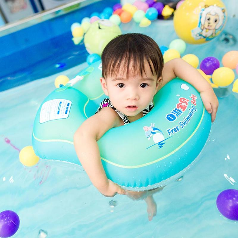 Baby Kids Floating Swimming Ring Kids Inflatable Floats With Pump Swimming Pool Bathtub Swim Trainer Accessories For Children