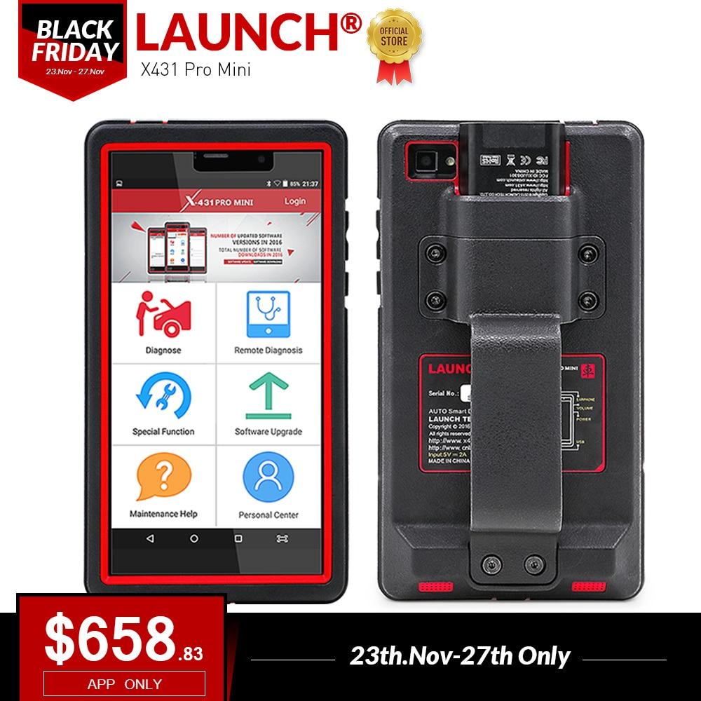 LANCEMENT X431 Pro Mini Auto outil de diagnostic Soutien WiFi/Bluetooth complète du système X-431 Pro Pros Mini Voiture Scanner 2 ans mise à jour gratuite