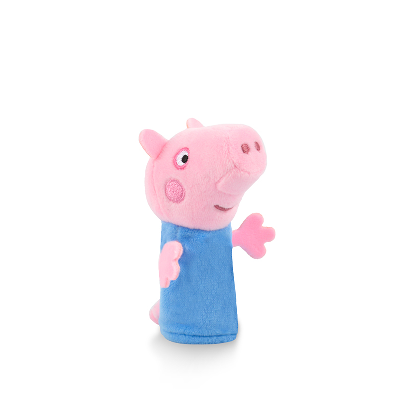 1 pc Genuine Peppa Pig Finger Puppets Peppa George Dinosaur Daddy Mommy Stuffed Kids plush toys Christmas New year gift 1