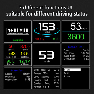 Image 5 - Hud Head Up Display OBD Computer Car Speed Projector Digital Speedometer Display Fuel Consumption Temperature Gauge OBDII Tool