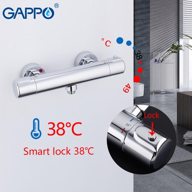 GAPPO robinet de douche thermostatique robinet de douche mitigeur baignoire robinet thermostat cascade mitigeur bain douche mitigeur thermostatique