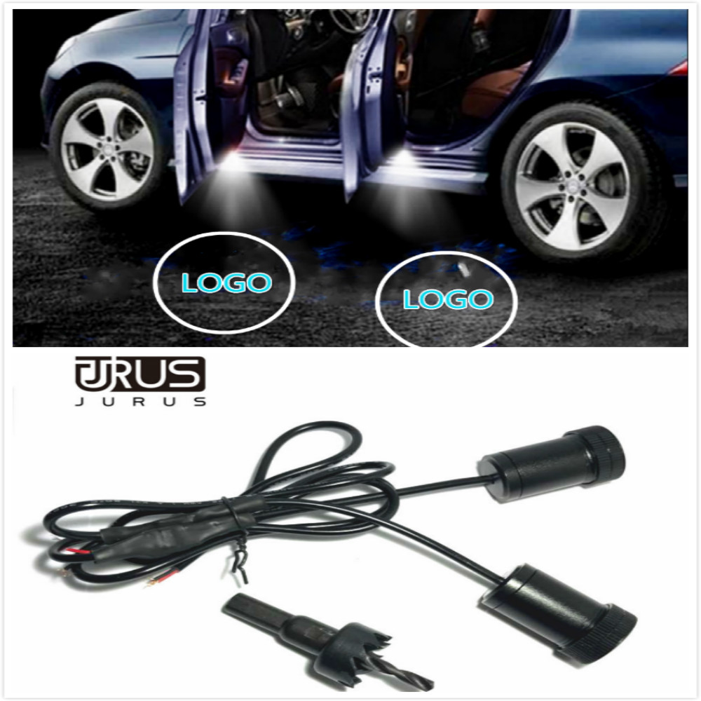 JURUS New arrival LED Car door welcome light For Nissan For Subaru For Ford courtesy led car laser projector Logo Light Case