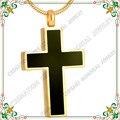 CMJ8355 clásico cruz joyería chapado en oro colgantes de cenizas de cremación urna de la joyería nunca se desvanecen de la alta calidad