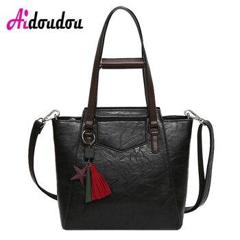 Donne del sacchetto di tote 2017 borse in pelle di lusso del nero di disegno di tote casuale borsa da viaggio grande sacchetto di spalla delle signore borse messenger bag J09PT02