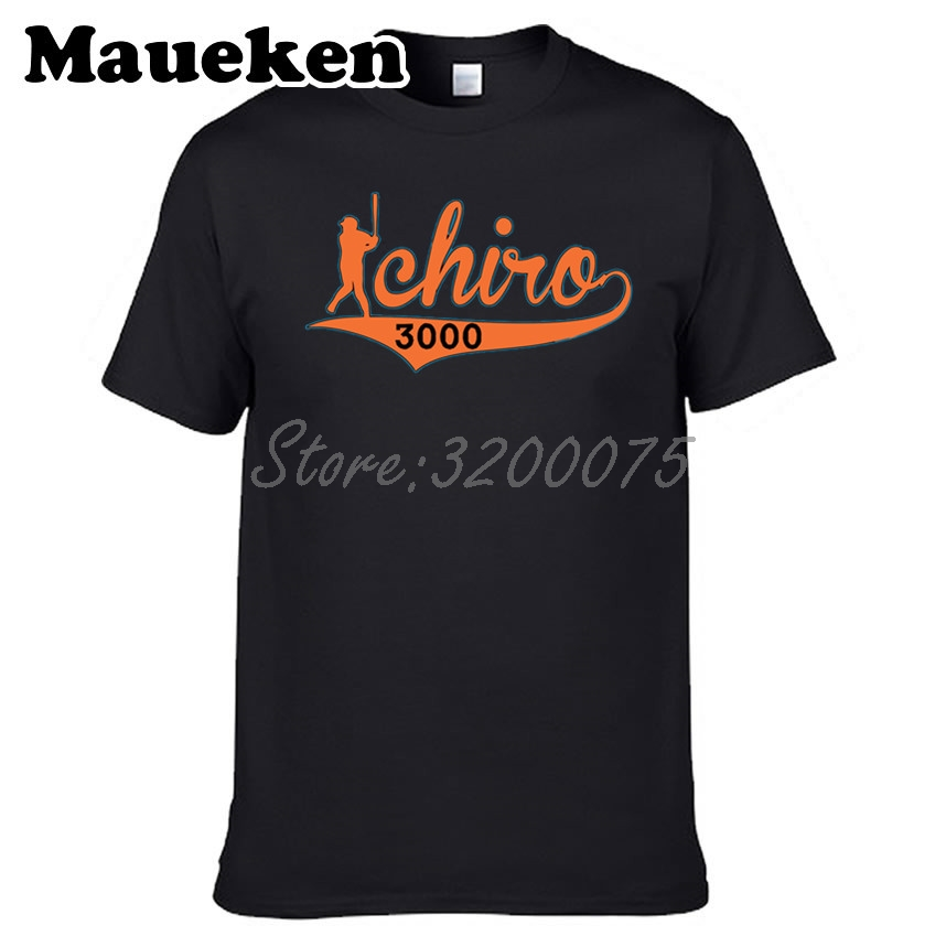 finest selection 6dcdf 44928 US $18.88  Men Miami 51 Ichiro Suzuki 3000 T shirt Tees Short Sleeve T  SHIRT Men's Marlins Fashion W1203035-in T-Shirts from Men's Clothing on ...