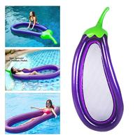 Inflatable Pool Floats Raft Swimming Ring Water Floating Toys Eggplant Shaped Water Fun Pool Toy Kids Swimming Ring