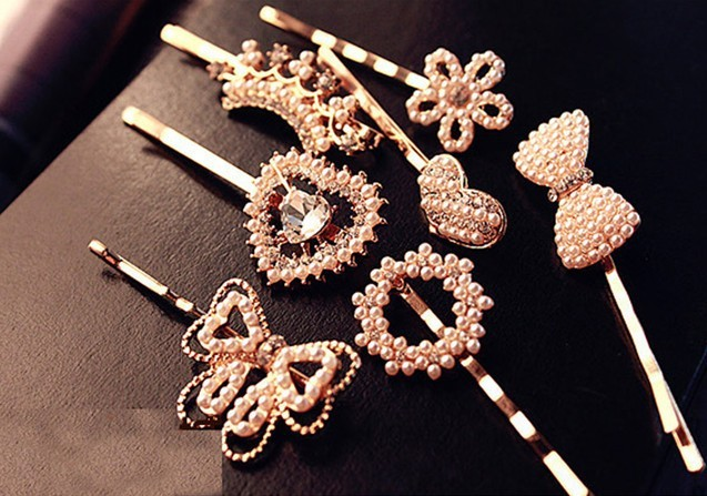 2014 Min. Order $10 New Arrive Spx3637 Fashion Pearl Flower Bow Heart Hair Clips Band Combs Delicate Accessories