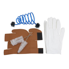 Gloves Cleaning Protective Cover Case Synthetic Leather 3 in 1 Trumpet Accessory Kit Woodwind Instruments Parts & Accessories