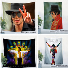 Michael Jackson Rock Music Poster flag banner wall sticker retro cloth art hanging painting tapestry bar cafe home decor(China)
