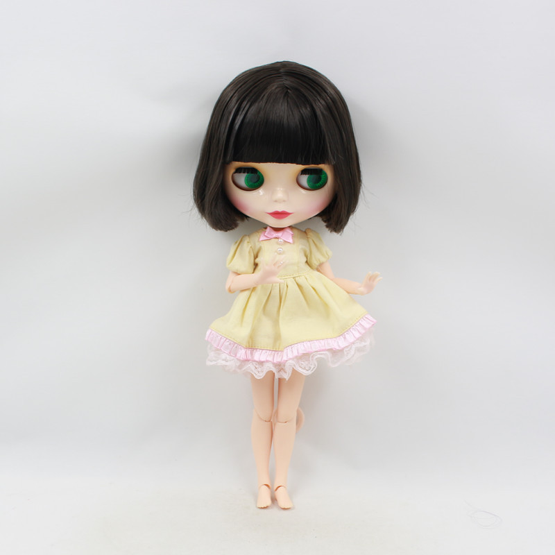factory blyth doll bjd neo 130BL950 JOINT body With Bangs short black hair 1 6 30cm