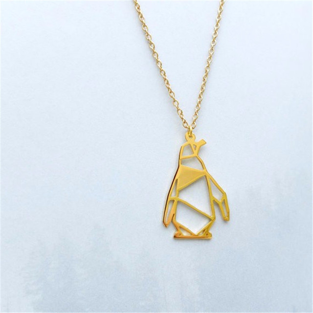 Danggao fashion cute origami walking penguin pendant necklace women danggao fashion cute origami walking penguin pendant necklace women choker necklace delicate charm christmas pet gift mozeypictures Images