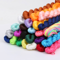Hot Sale 30 Colors Nylon Cord Thread Chinese Knot Macrame Rattail 1mm*24M Shamballa Rope For DIY Bracelet Braided