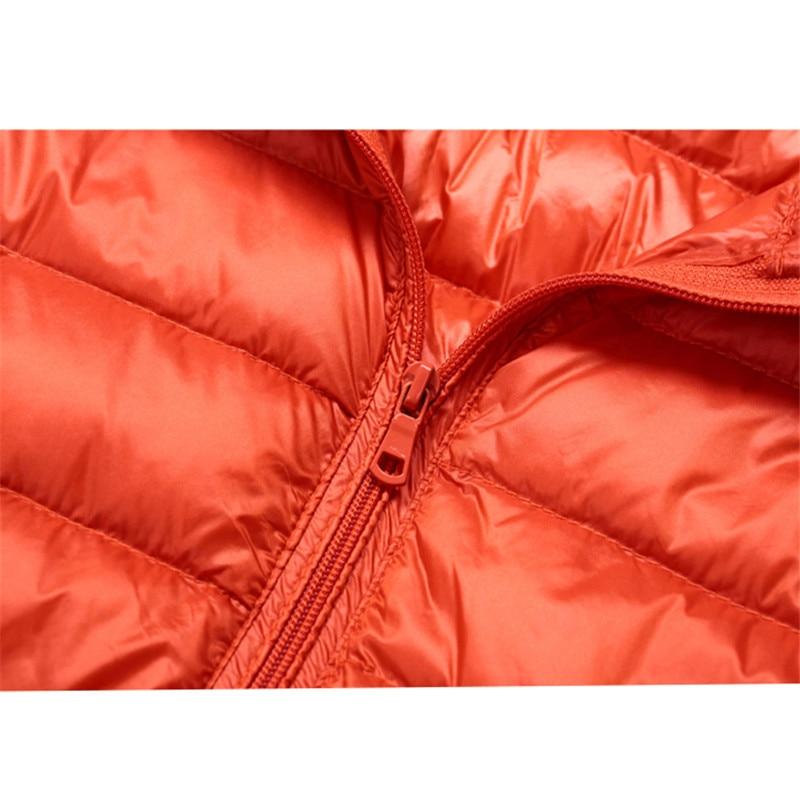 Sanishroly 2018 New Autumn Winter Women Thin White Duck Down Jacket Parka Female Ultra Light Down Coat Short Tops Plus Size S268 5