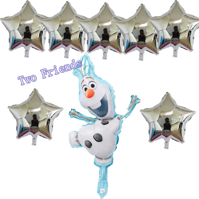 Olaf foil balloons 8pcs/lot snowman wedding birthday party decorations child toys baby shower air inflatable ballons