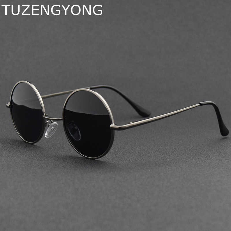ec3edb168e5 2018 New Brand Designer Classic Round Sunglasses Men Women Polarized Metal  Small Frame Retro Sun Glasses
