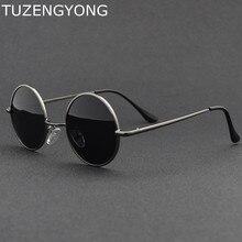 2018 Nova Marca Designer Clássico de Metal Pequeno Quadro Retro Rodada  óculos de Sol Das Mulheres Dos Homens Polarizados Óculos . 9495d57877