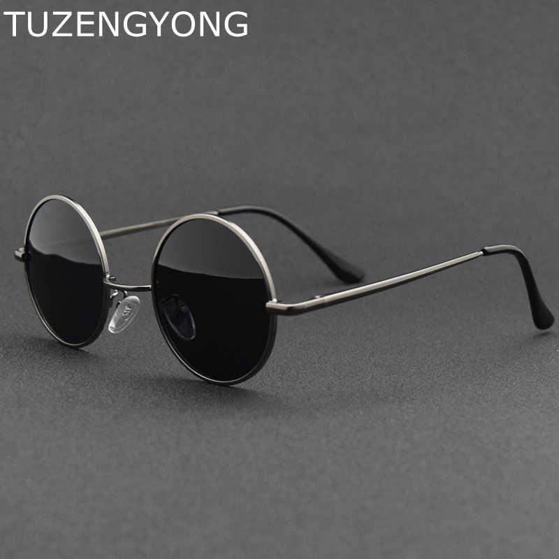 4fac12b836f1 2018 New Brand Designer Classic Round Sunglasses Men Women Polarized Metal  Small Frame Retro Sun Glasses