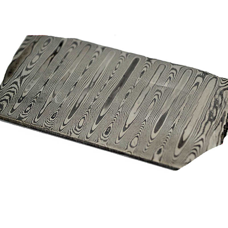 430+440 stainless steel Damascus pattern steel plate Knife blade Material Produce DIY tools (non heat treatment  non Pickling)