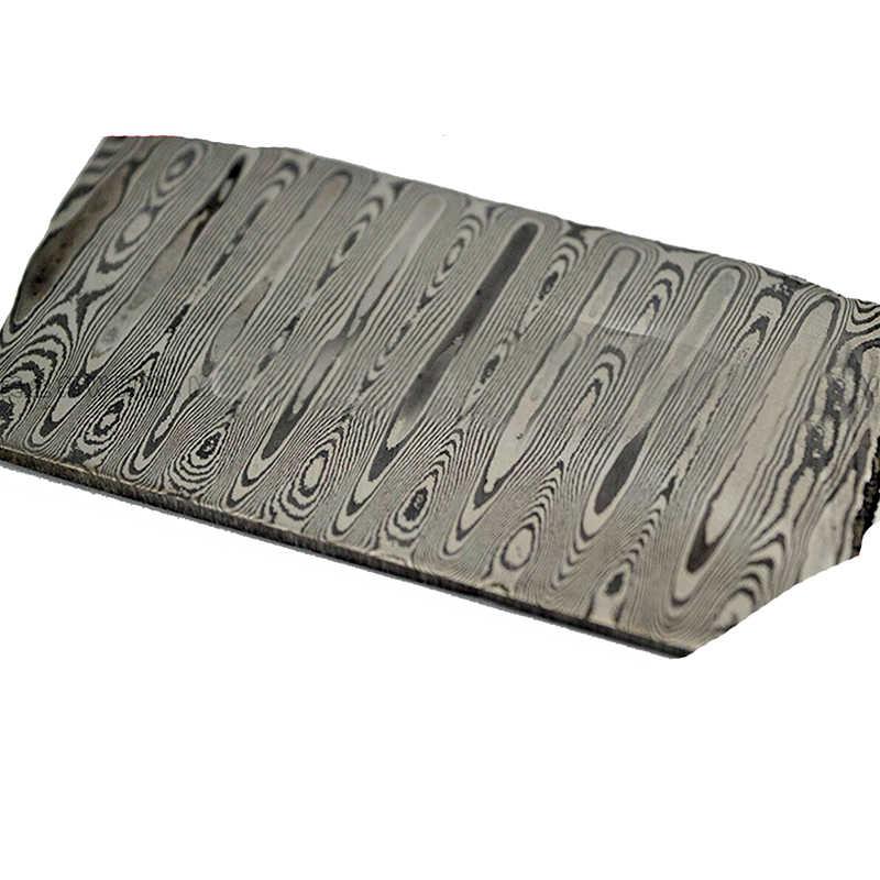 430 + 440 aço inoxidável damasco padrão placa de aço faca lâmina material produzir ferramentas diy (não tratamento térmico não decapagem)