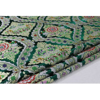 C627 Red/Green Florals Jacquard Chinese Silk Jacquard Brocade Fabric Chinese Wedding Couples' Dress Festival Cushion Case Cloth
