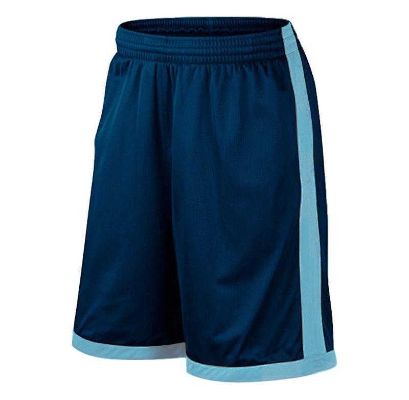 Баскетбольные шорты размера плюс, мужские спортивные шорты, мужские быстросохнущие баскетбольные шорты с карманами, баскетбольная майка высокого качества - Цвет: Navy Blue