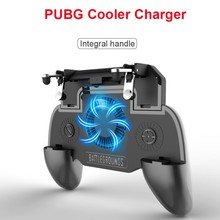 PUBG Mobile Game Controller Gamepad Trigger Aim Button SP+ Shooter Joystick For IPhone Android Phone with Cooler Cooling Fan pubg mobile game controller gamepad trigger aim button sp shooter joystick for iphone android phone with cooler cooling fan
