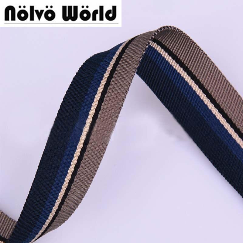 38mm width Eco-Friendly multi color nylon ribbon for DIY bag strap,hand bag strap,back p ...
