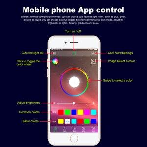 Image 2 - RGB LED רצועות אור הסביבה APP Bluetooth בקרת לרכב פנים אווירת אור מנורת 8 צבעים DIY מוסיקה 4 M סיבים אופטי להקה