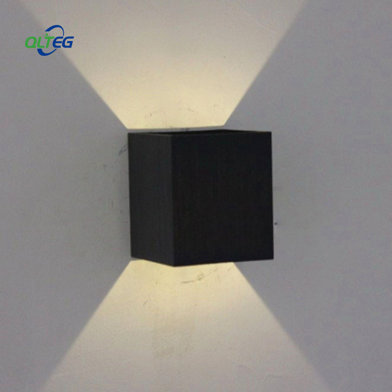 QLTEG 5W Lampada LED Wall Lamp Rail Project Square  LED Aluminium Wall Light Bedside Room Bedroom Indoor Wall Lamps Arts