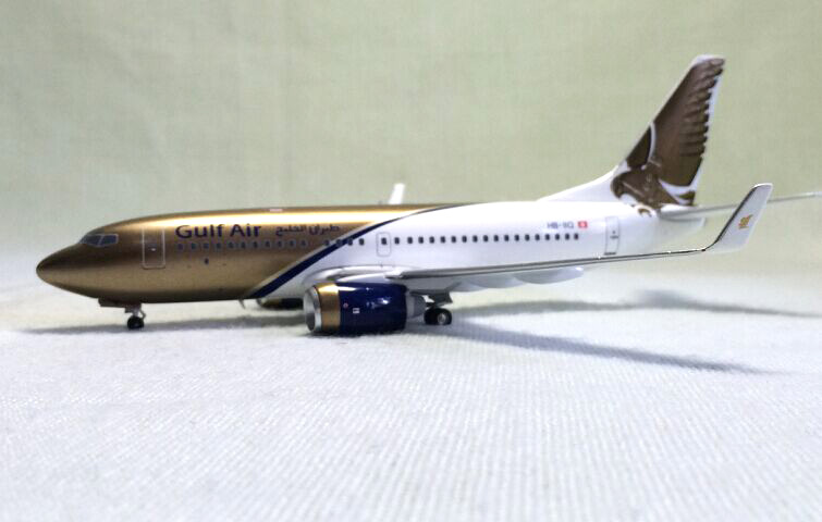 Out of print IF 1/200 Gulf Air 737--700 alloy aircraft model HB-IIQ Limited Collector Model hot sale transparent lace deign hollow pattern dress with t back