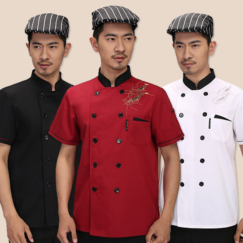 2017 Summer Chef Uniform Costume for Men Women Working Wear Chef Service Restaurant Work Clothes Tooling Short Sleeve Jackets