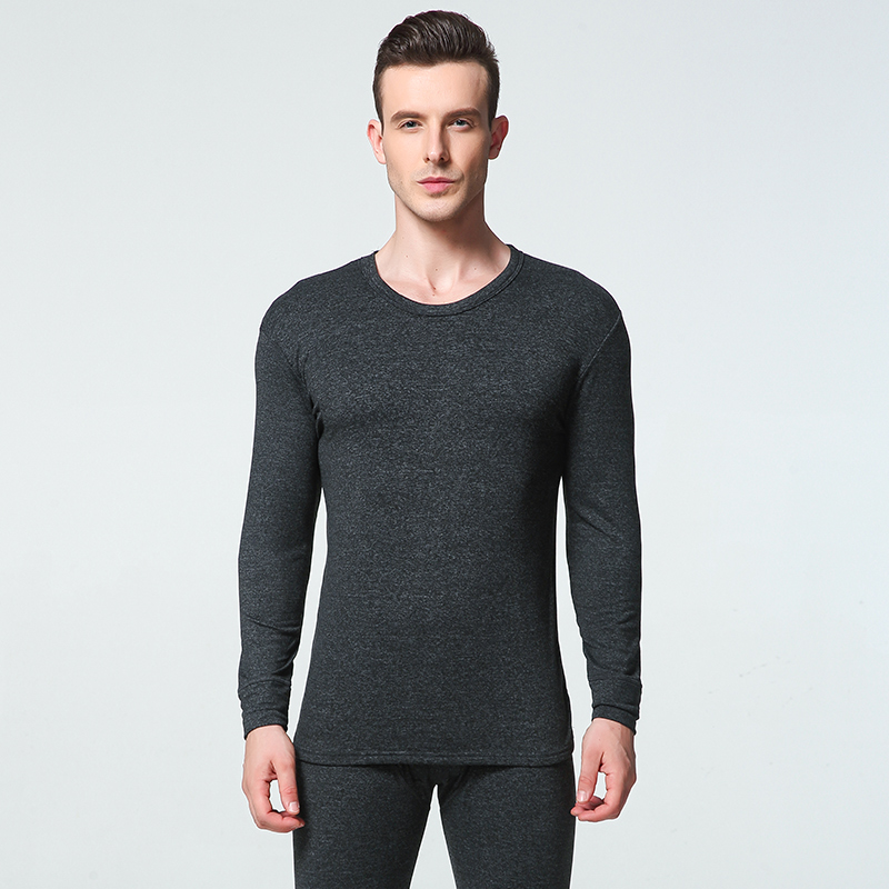 Long Johns Men Thermal Underwear Sets Seamless Simple Solid Keep Warm For Man Male Clothing Sleep Wear 1 Sets New Winter L-3XL