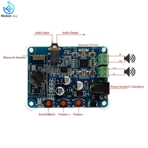 Image 4 - PAM8610 Bluetooth 4.0 ses amplifikatörü Kurulu Oyuncu Modülü DC12V 2X10 W Çift Kanal Stereo HiFi Hoparlör Bluetooth AMP