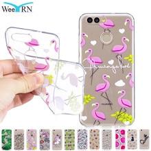 Flamingo Unicorn Clear Phone Case for huawei nova 2 Case 5.0