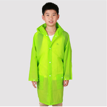 Chlidren EVA Environment Raincoats student Hooded Jacket Girl boy Rain coat Poncho Raincoat kids Long transparent Rainwear