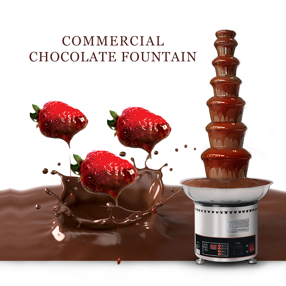 Chocolate Fountain Machine 5 Tiers Stainless Party Hotel Commercial 27