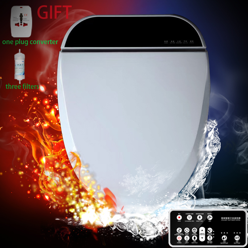 Intelligent Toilet Seat LED Light Extended Electric Washlet Smart Bidet Cover Heat Sits