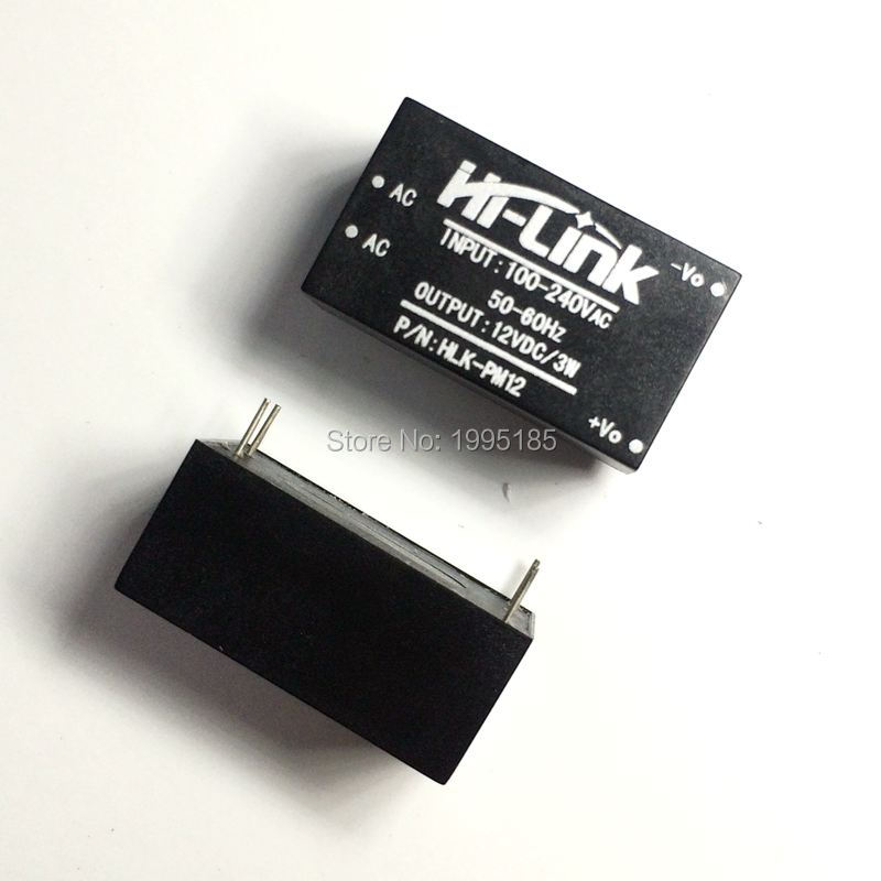 AC-DC <font><b>220V</b></font> <font><b>to</b></font> <font><b>12V</b></font> HLK-PM12 Buck Step Down Power Supply <font><b>Module</b></font> Converter Intelligent Household Switch HLK PM12 UL/CE image