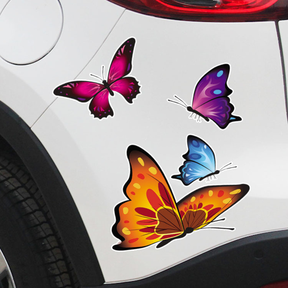 Car Motorcycle Sticker Butterfly Creative Decoration Automobiles