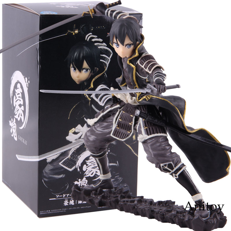 SAO Sword Art Online Code Register Goukai Black Dark Tiger Kirigaya Kazuto Kirito Figure Action PVC Collectible Model Toy