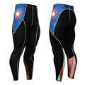 New Fashion 2016 Mens Compression Pants 3D Print Quick Dry Skinny Leggings Tights Fitness MMA Pants Tights Base Layer Leggings