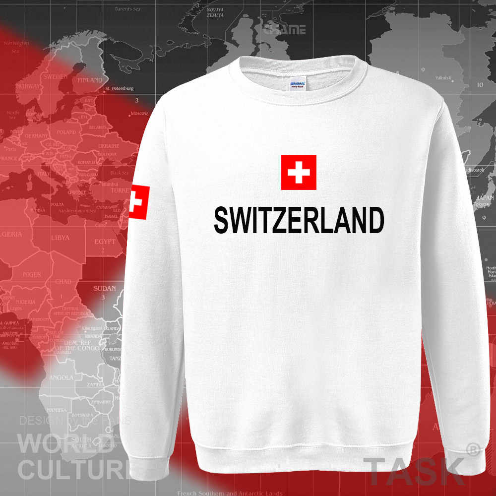 Switzerland hoodies men sweatshirt sweat new hip hop streetwear clothing jerseys tracksuit nation Swiss flag fleece Switzer CH
