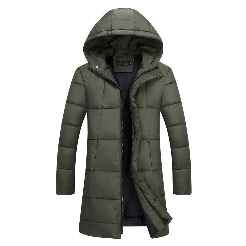 Men Casual Brand Clothing Jacket Cotton Hooded Coat Pocket More Money In The Long Warm Winter Jacket Men's Parkas