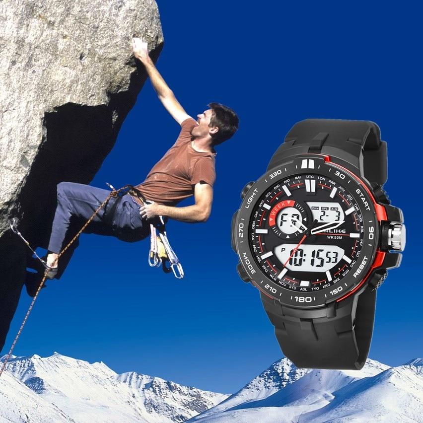 2019 Nueva Marca ALIKE Casual Reloj Hombre G Estilo Impermeable - Relojes para hombres - foto 3
