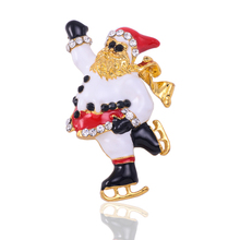 Hot sale cc brooches for women fashion design Christmas jewelry old man rhinestone scarf brooch x0275