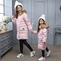 De La Muchacha del invierno chaquetas/abrigos de Los Niños de down Abrigos con piel real Girls/Mamá pato gruesa abajo chaqueta Caliente Outerwears chaquetas