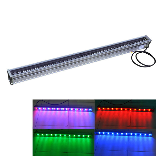 4pcs/lot DHL Free AC85~265V 18W-36W LED Wall Washer Light IP65 waterproof outdoor light 1000*46*46mm Warm Pure White RGB